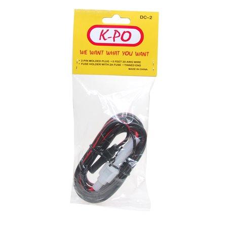 K-PO DC CORD 2 POL CYBERNET