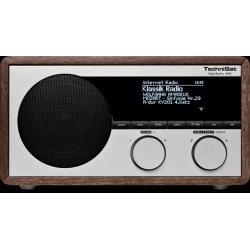 Technisat DigitRadio 400 hout Dab+FM Intern.+bluet