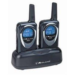 Midland Duo-band UHF portofoonset PMR-LPD zwart-wit met tafellader
